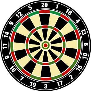 Vector dart board