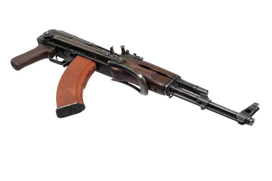 AKMS (Avtomat Kalashnikova) airborn version of Kalashnikov assau