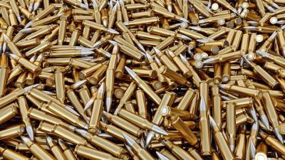 Pile of gun bullets  3d render.
